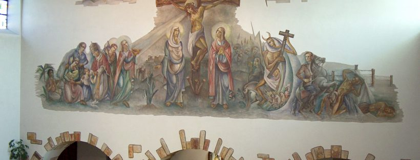 Das Wandgemälde in der Kirche